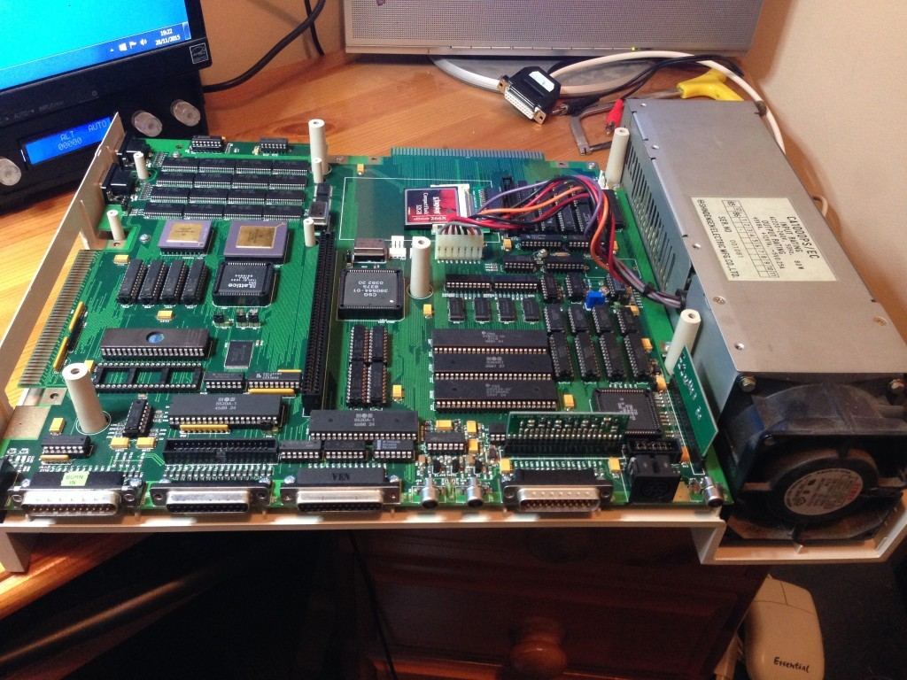 GBA1000 board fitted with PSU